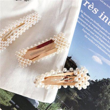 Korean Version Cute Side Folder Clip Hairpin Girls Barrettes Hair Clip Clamp - image 4 de 9