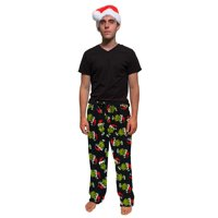 Grinch Lounge Pants with Santa Hat
