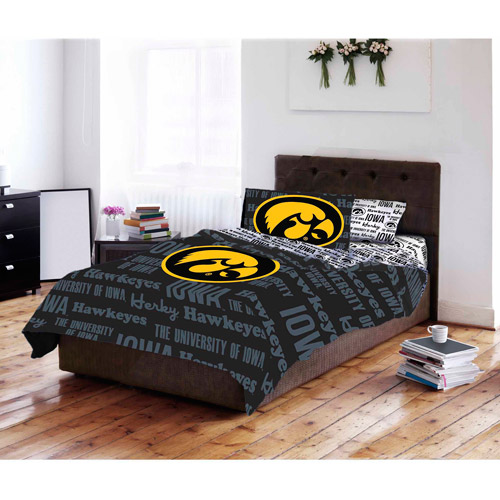 NCAA University of Iowa Hawkeyes Bed in a Bag Complete Bedding Set