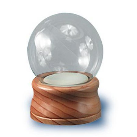 Diy Snow Globe (National Artcraft DIY Water Globe Is 4 Inches Round with Maple Finish Wood Base and)