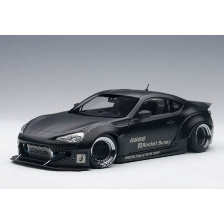Rocket Bunny Toyota 86 Matt Black with Black Wheels 1/18 Model Car by (Best Wheels For Toyota Tacoma)