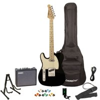 Sawtooth ET Series Surf Green with Aged White Pickguard Electric Guitar Kit with Sawtooth 10 Watt Amp and ChromaCast Stand, Picks, Tuner, Strap, Cable & Gig Bag Soft Case
