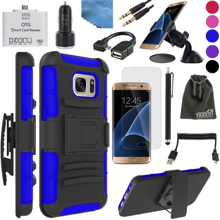 eeekit 8in1 kit for samsung galaxy s7 edge hybrid cover case screen protector otg card reader. Black Bedroom Furniture Sets. Home Design Ideas