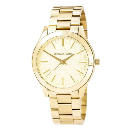 MK3335 Women's Slim Runway Gold Tone Dial Yellow Gold Steel Bracelet Watch