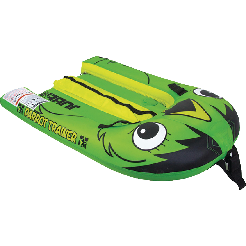 Jobe 230116003 Green Parrot Design Single Rider Flat Bottom Trainer Towable