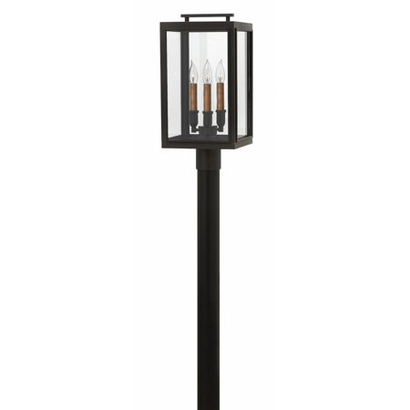 Sutcliffe 3-Light Post Mount in Oil Rubbed Bronze