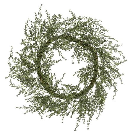 30 in. Green Fairhill Leaf Wreath - image 1 of 1