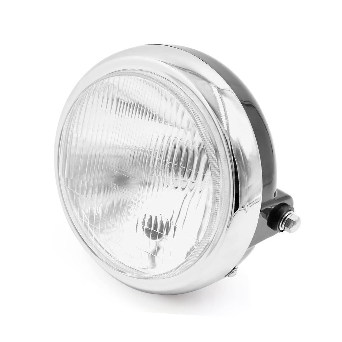 "7"" Dia Black Plastic Shell Motorcycle Headlight Headlamp Warm White for EN125"