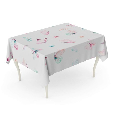 NUDECOR Cute Watercolor Unicorn Flowers Nursery Magical Patterns Princess Rainbow Tablecloth Table Desk Cover Home Party Decor 60x84 inch - image 1 of 1