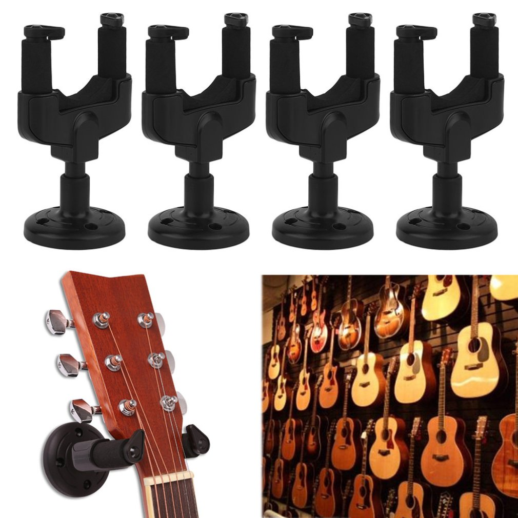 4PCS/SET Guitar Wall Mount Hanger Music Instrument Wall Mount Stand Rack Bracket Display Guitar Bass Accessories