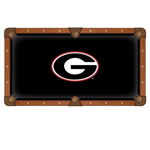 NCAA 9' Pool Table Cloth by Holland Bar Stool - Georgia Bulldogs