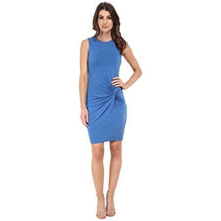 7a5b88eb40 KUT from the Kloth - KUT from the Kloth Women s Scoop Neck Sleeveless Dress  w  Front Twist Blue Dress 10 - Walmart.com