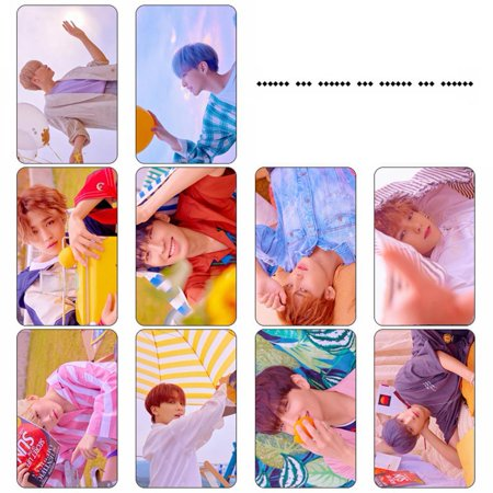 Fancyleo SEVENTEEN Member Photo Postcard Card Sticker Lomo Cards Sticker Set Gift for Fans, 10 Pcs/Set