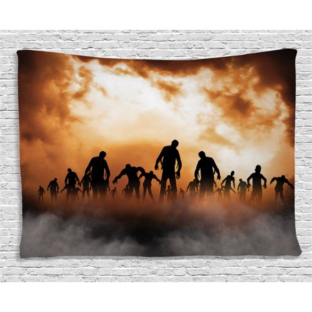 Halloween decorations tapestry zombies dead men body in - Leave you dead in the living room ...