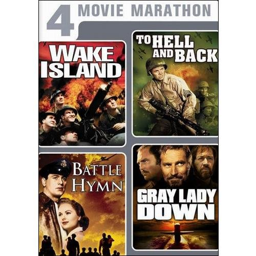 4 Movie Marathon: Classic War Collection - Wake Island / To Hell And Back / Battle Hymn / Gray Lady Down