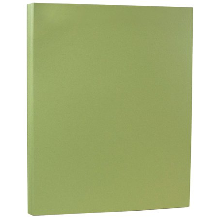 JAM Paper Premium Cardstock - 8 1/2 x 11 - 80lb Olive Cover - 50 Sheets/Pack