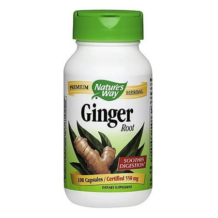 Natures Way Natures Way Ginger Root 100 Ea Walmart Com