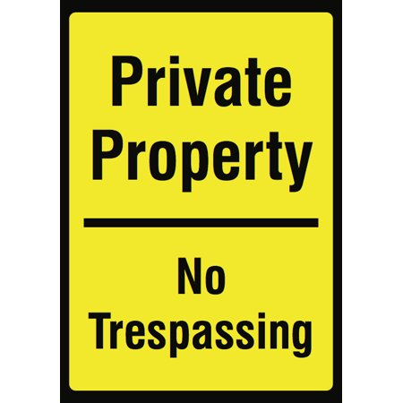 Private Property No Trespassing Yellow Sign - Keep Out Signs - Plastic](No Way Out Sign)