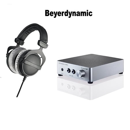 beyerdynamic DT 770 Pro 80 ohm Studio Headphones + Beyerdynamic A20 Headphone Amplifier - Silver Bundle