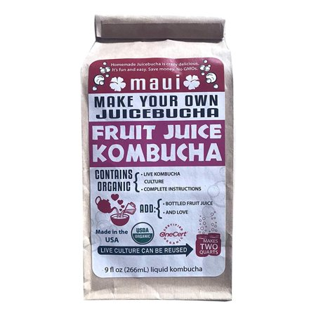 - Organic Maui Make Your Own Kombucha Starter Kit