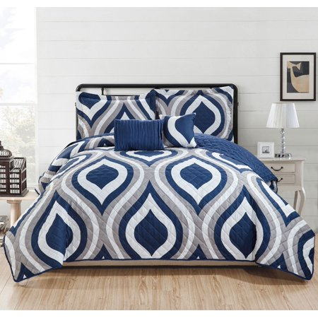 Jefferson 5-Piece Quilt Set - Queen ()