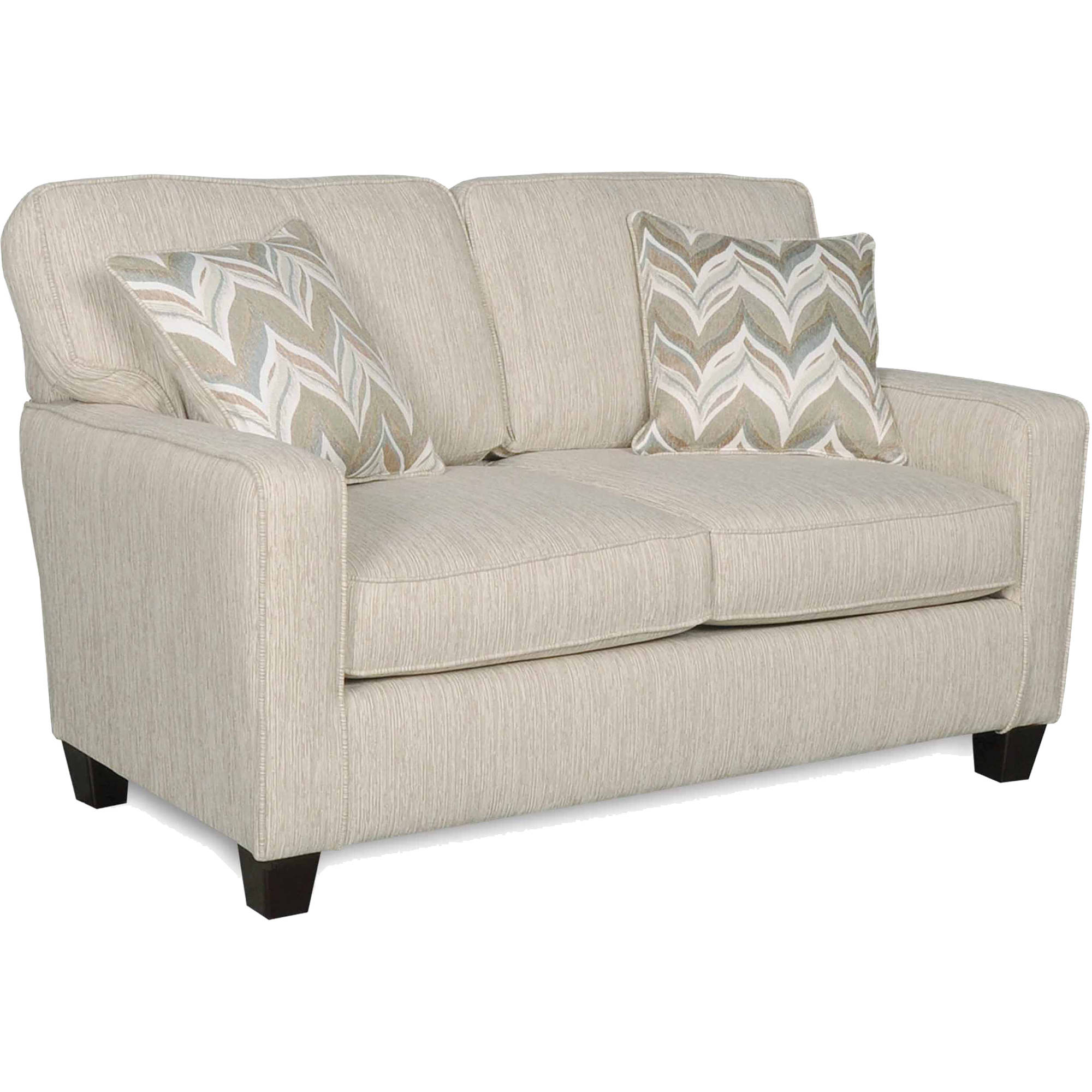 SoFab Austin Almond Loveseat with 2 Accent Pillows