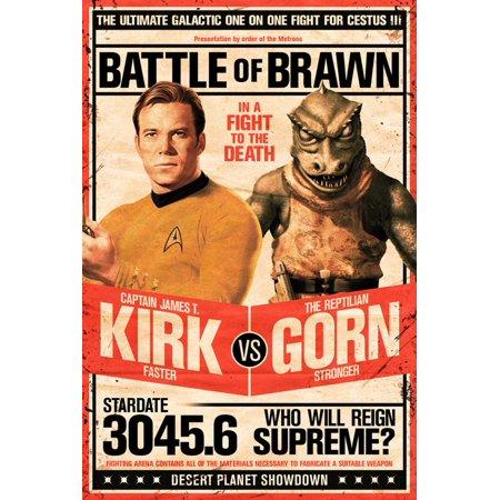 Star Trek- Kirk vs Gorn Stardate 3045.6 Poster - 24x36