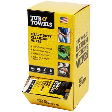 Tub O' Towels Heavy Duty Scrubbing Wipes, 100 count in Gravity Feed Box