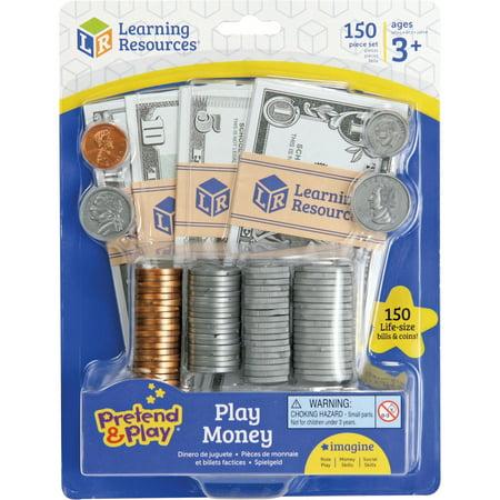Pretend & Play, LRNLER2725, Play Money, 150 / Each, Multi
