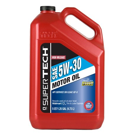 Super Tech High Mileage 5w30 Motor Oil 5 Qt