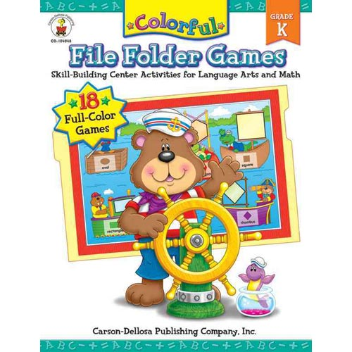 Colorful File Folder Games: Grade K: Skill-building Center Activities for Language Arts and Math