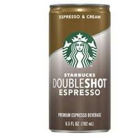 Starbucks Doubleshot Espresso & Cream, 6.5 Fl Oz (8 Cans)