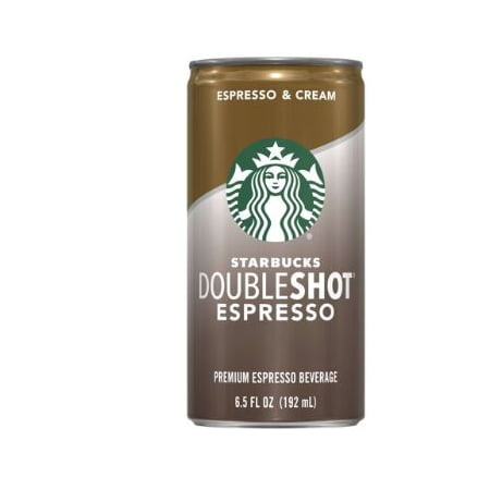 (8 Cans) Starbucks Doubleshot Espresso & Cream, 6.5 Fl (Starbucks Unsweetened Iced Coffee 48 Fl Oz)