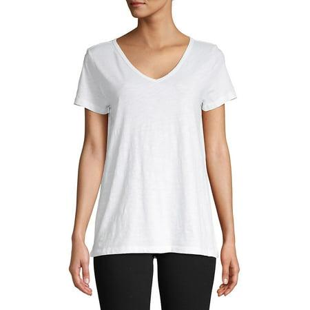 Short Sleeve V-Neck Top ()