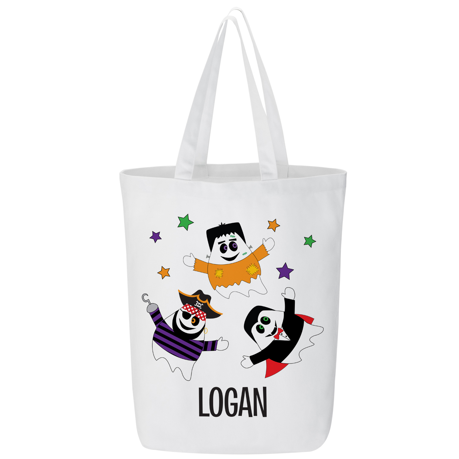 Personalized Halloween Costume Ghost Treat Bags