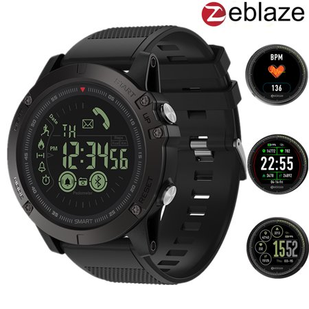 Zeblaze Vibe 3 Touc H Screen 164ft Deep Waterproof Bluetooth App All Day Activity Fitness Tracker Blood Pressure Heart Rate Monitor Tactical Smart