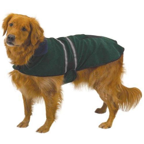 """Casual Canine Fleece Reflective Safety Dog Jacket Coat HUNTER GREEN XX-LARGE 30"""" ZW868 30 45"""