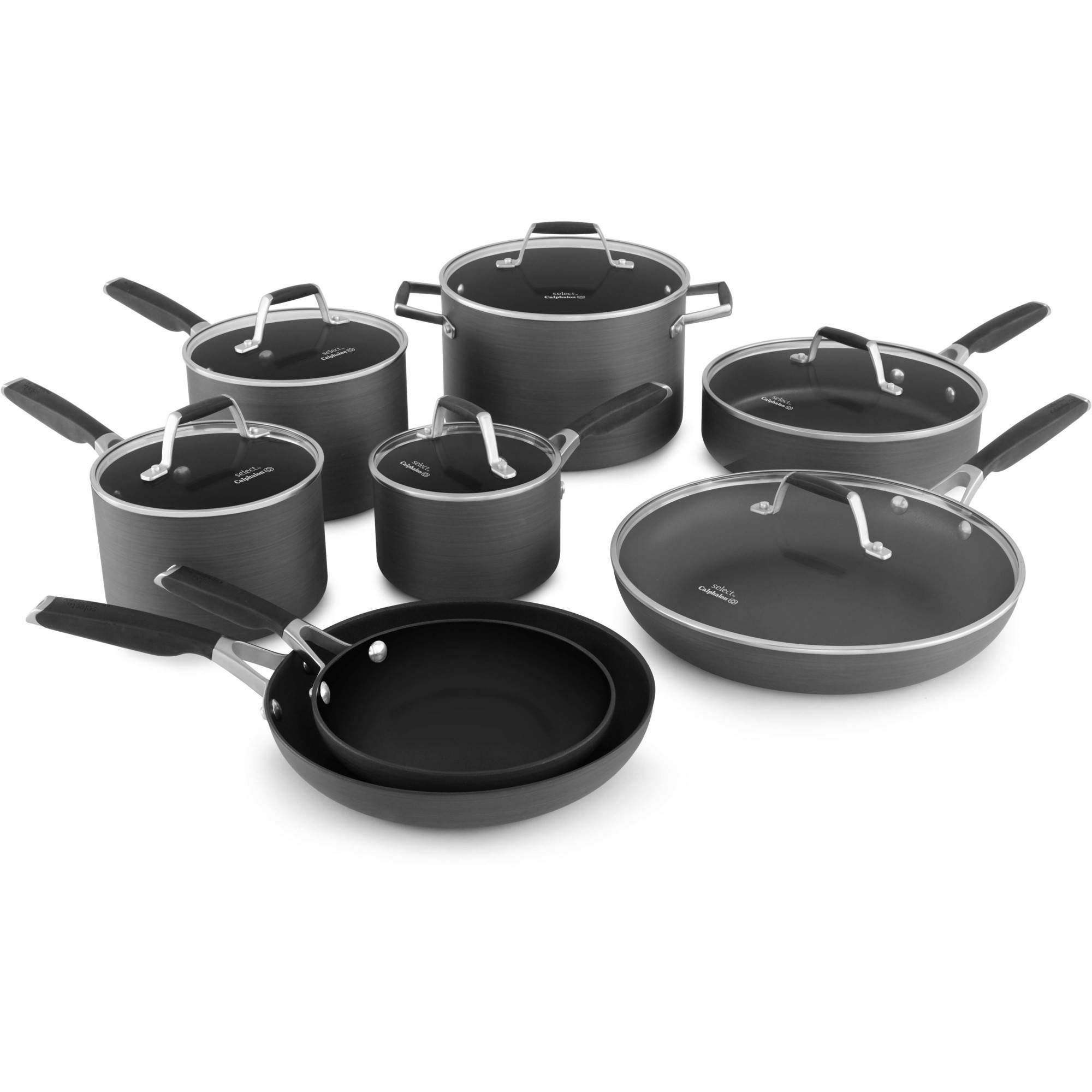 Select by Calphalon Hard-Anodized Nonstick 14-piece Cookware Set