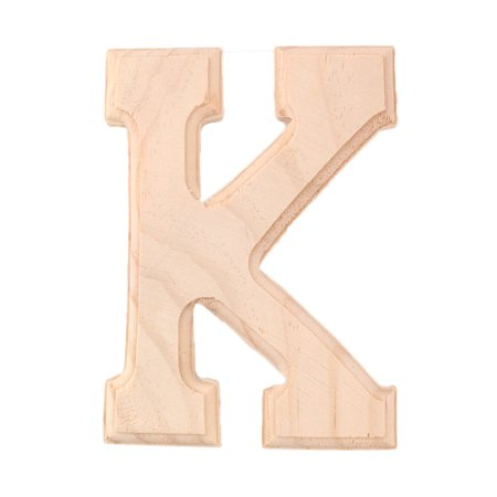 Household Wooden Decor English K Letter Alphabet Word Free DIY Wall Wood Color