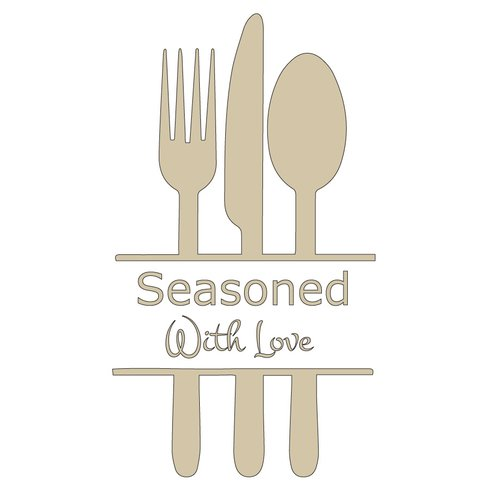 The Decal Guru Seasoned with Love Kitchen Wall Decal