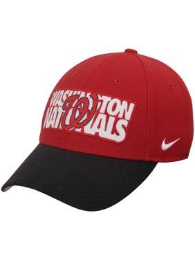 promo code 7b207 60187 Product Image Washington Nationals Nike Verbiage Swoosh Performance Flex Hat  - Red Navy - OSFA