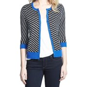 Halogen NEW Black Women's Size XL Striped Button Down Cardigan Sweater $46