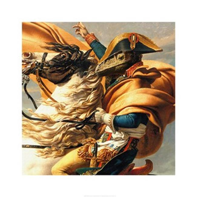 Pivot Publishing - A PPAPVP2034 Napoleon Raptor Crossing the Alps -18 x 18 Poster Print