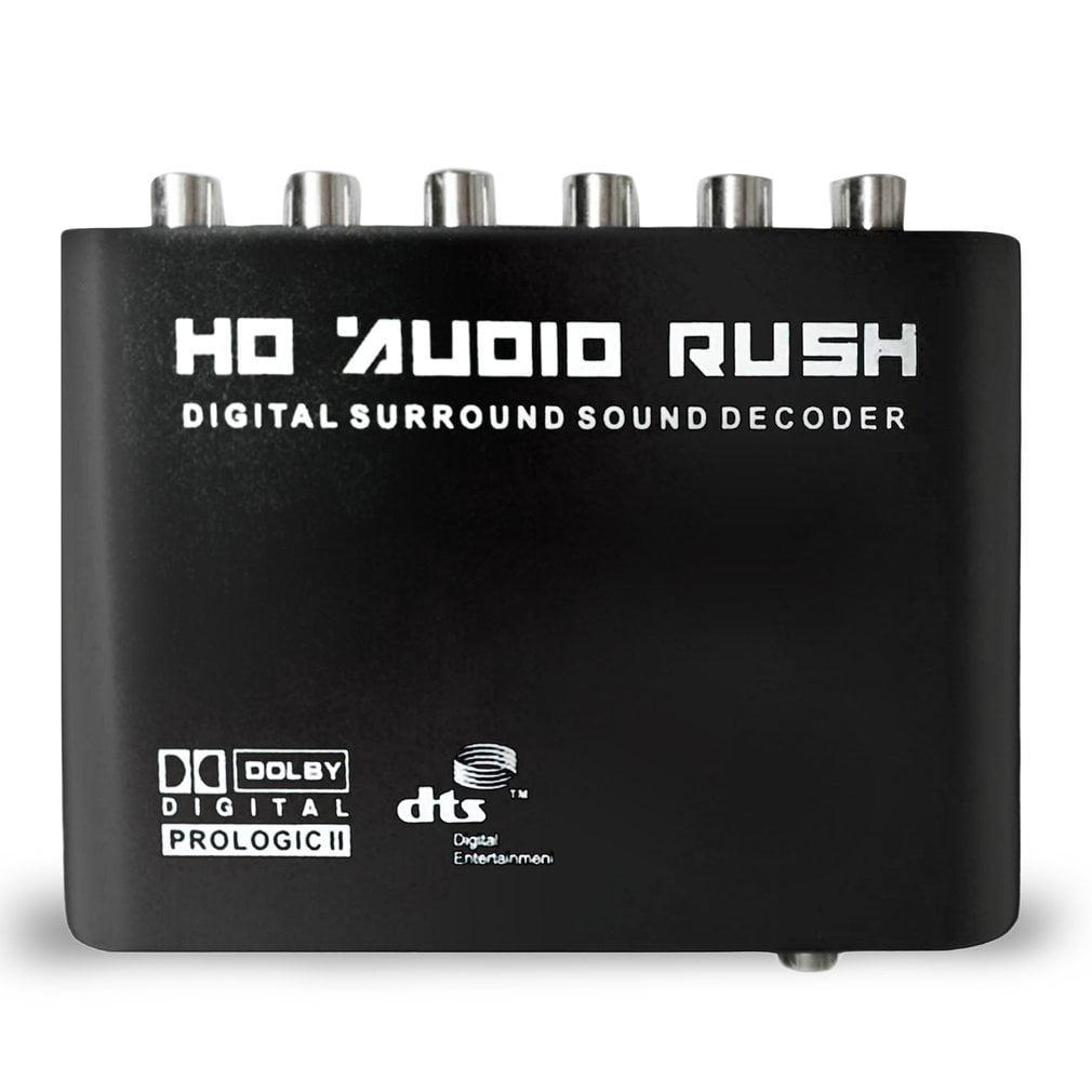 5.1-Channel DTS//AC3 HD Audio Rush Digital Sound Decoder Converter Analog Adapter