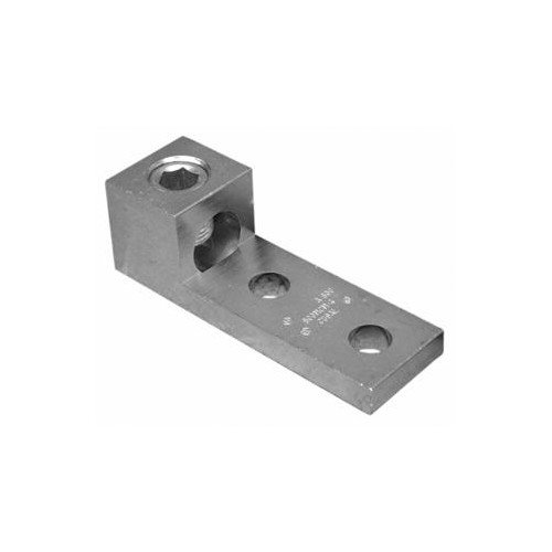 Morris Products 750 AWG One Conductor Two Hole Mount Aluminum Mechanical Lug