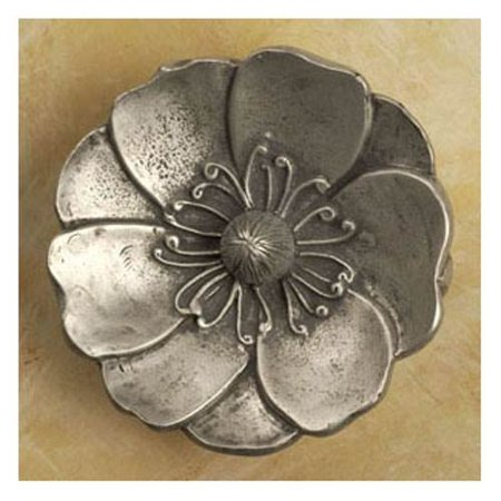 Sm Lotus Flower Knob Set Of 10 Black With Chocolate Walmartcom