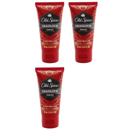 130 Ml Twin Pack (Old Spice Deadlock Spiking Glue, Travel Size, .84 Ounces / 25 ml (Pack of 3) + Schick Slim Twin ST for Dry Skin)