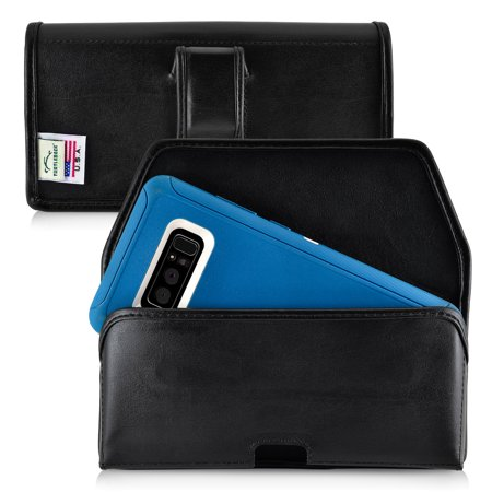 promo code 11918 d2b3f Turtleback Holster made for Samsung Note 8 with Otterbox DEFENDER or  LIFEPROOF case Black Belt Case Leather Pouch with Executive Belt Clip  Horizontal ...