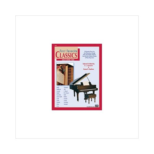 Alfred 00-16810 First Favorite Classics- Solo- Book 2 - Music Book