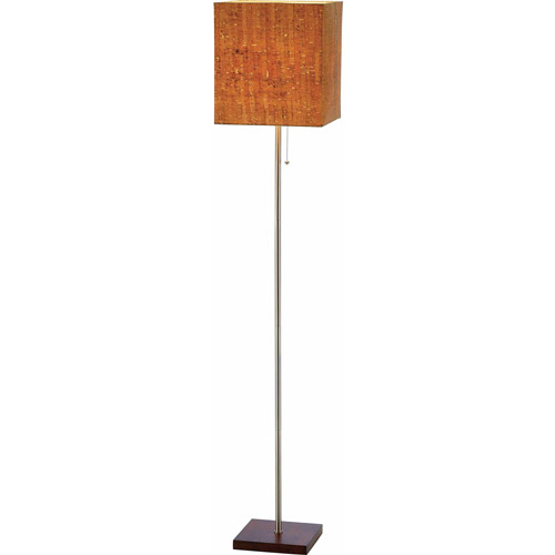 Adesso Sedona Floor Lamp, Walnut
